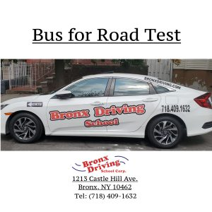 Bronx Driving School Bus for Road Test